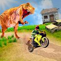 Bike Racing Dino Adventure 3D: Dino Survival Games icon