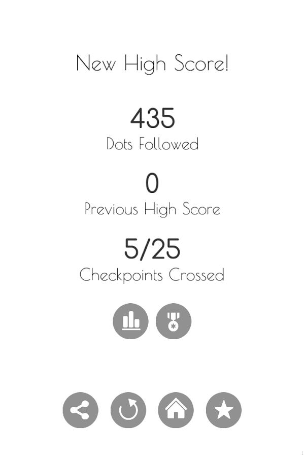 follow the dots runner game screenshot
