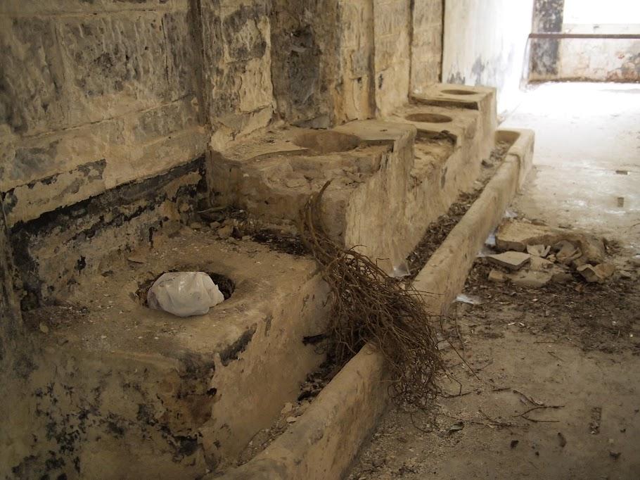 Stone latrines