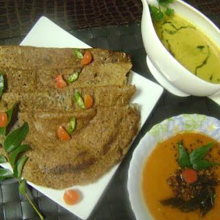 Whole Urad Dal Dosa & Uttapam (Whole Black Gram Lentil Pancakes - South Indian Breakfast).