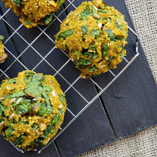 Baked Spinach and Bulgur Veggie Balls [Vegan] Recipe