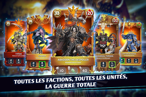 Warhammer Combat Cards - 40K Edition Card Battle fond d'écran 2