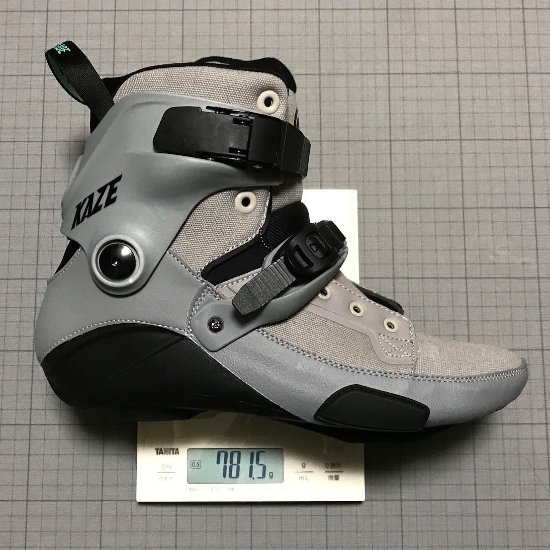 EU40のブーツのみの片足分の重量:781.5g