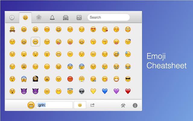 Image result for emoji cheat sheet github