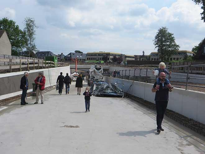 dag van de bouw - spooronderdoorgang Leijenseweg Bilthoven, 22 mei 2017