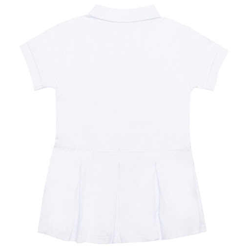 Thumbnail images of Burberry Baby White Polo Dress