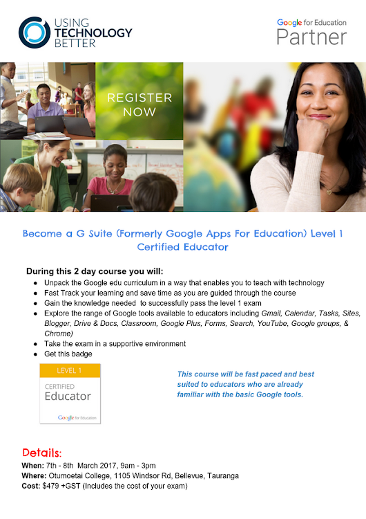 Google level 1 Educator Bootcamp Tauranga