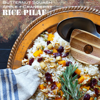 Vegan Roasted Butternut Squash, Apple, and Cranberry Rice Pilaf