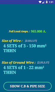 Pec conductor size calc free apps on google play screenshot image greentooth Gallery