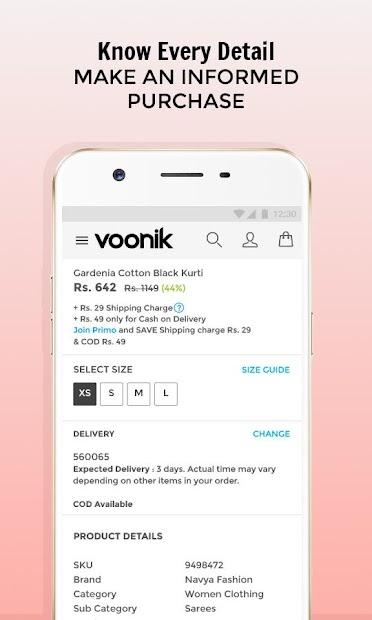 Voonik Online Shopping App screenshot 2