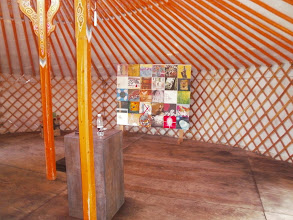 Photo: View in the Yurt, Thy exhibition