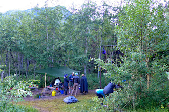 Photo: Eating area near our campsite on night #3 - It was the only night that rain caused problems.  There were 4 campsites here, so lots of people (CO, PA, OR, and us)