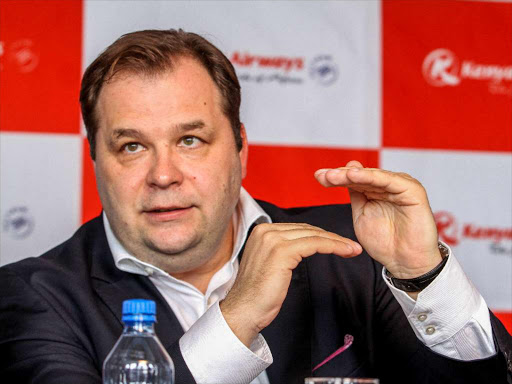 Kenya Airways chief executive Officer Sebastian Mikosz during an introductory round table media briefing in Nairobi on September 21,2017.