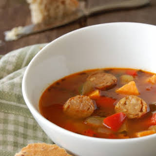 Fire Broth Spicy Sausage & Vegetable Soup.