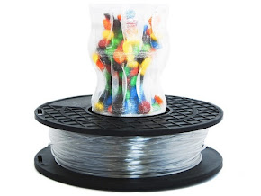 MadeSolid Translucent Clear PET+ Filament - 3.00mm (1lb)