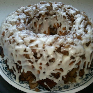 Upside Down Cinnamon Apple Coffee Cake.