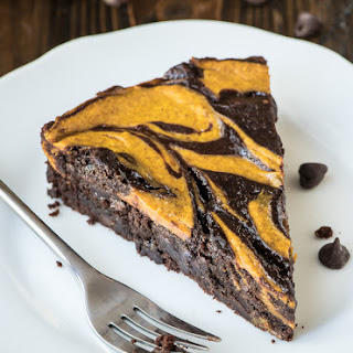 Swirled Cream Cheese Pumpkin Brownies