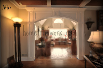 Photo: Archway and pillars with recessed panels