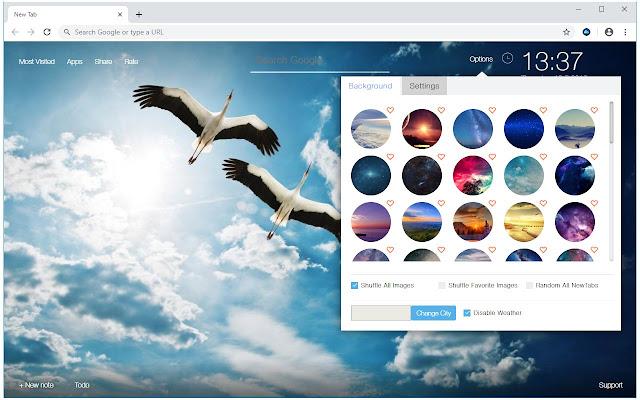 Sky Cloud & Stars Wallpapers HD Custom NewTab