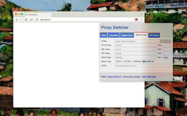 Proxy Switcher and Manager