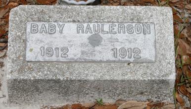 Photo: Baby Raulerson Family unknown / Next to Mittie Raulerson
