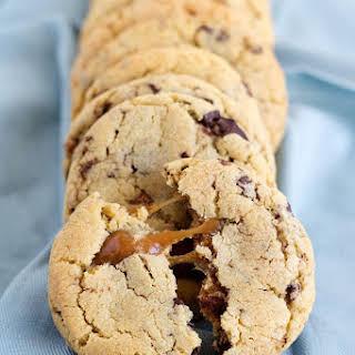 Chocolate Chip Caramel Cookies.