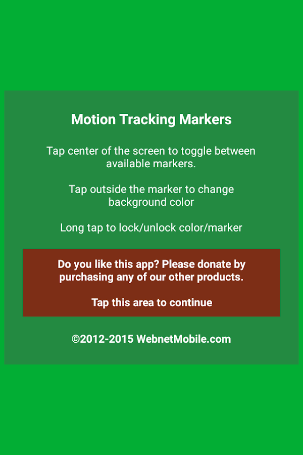 Motion Tracking Markers - screenshot