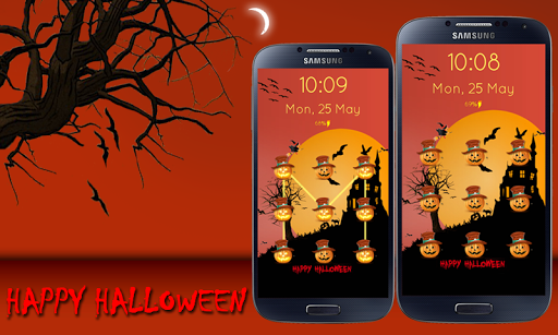 Halloween Pattern Screen Lock