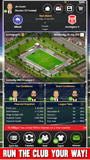Club Soccer Director - Soccer Club Manager Sim 2.0.8e Screenshots 5