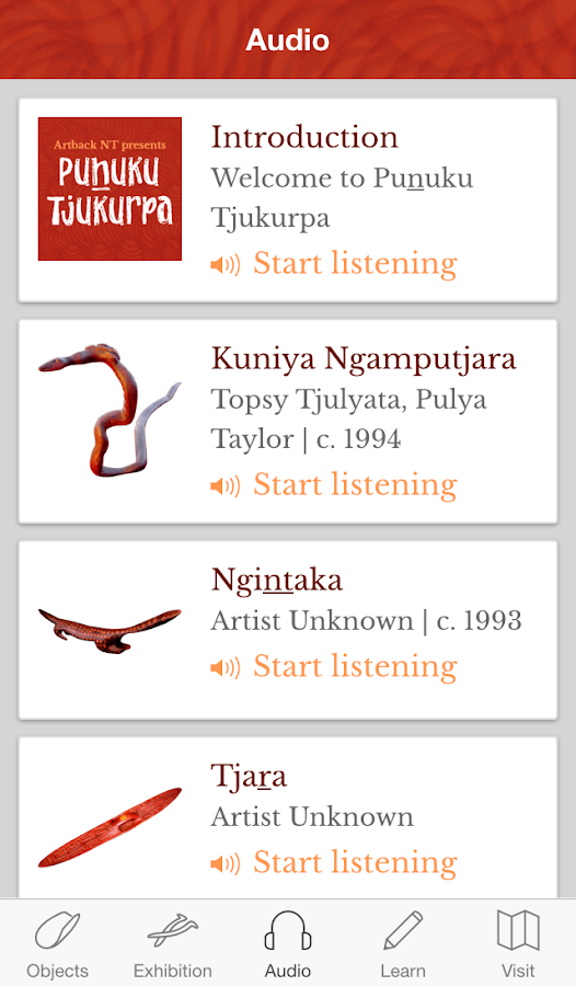 Puṉuku Tjukurpa- screenshot