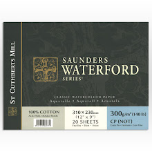 Photo: Saunders Waterford Watercolour Paper (300GSM Coldpress)  - http://www.parkablogs.com/content/review-saunders-waterford-watercolour-paper-300gsm-coldpress