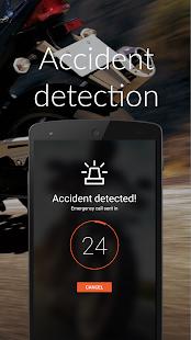 BikerSOS - rozpoznání nehody - náhled