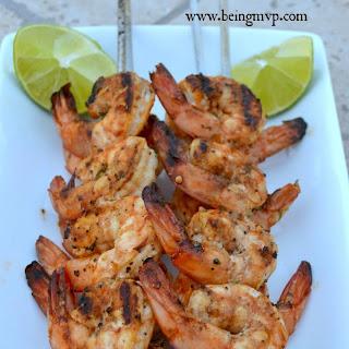 Asian Inspired Shrimp Skewers {Recipe}