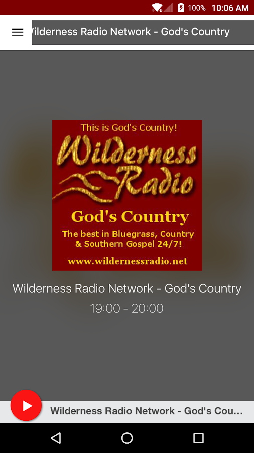 Wilderness Radio Network - God's Country- screenshot