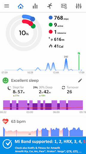 Notify & Fitness for Mi Band modavailable screenshots 1
