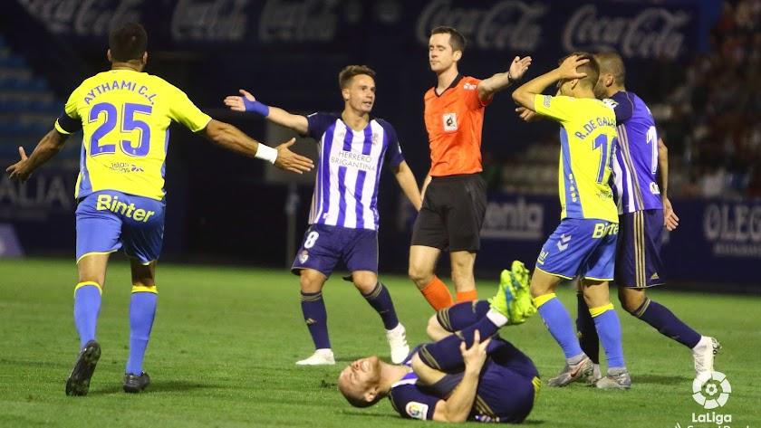 Galech en el partido Ponferradina-Las Palmas.