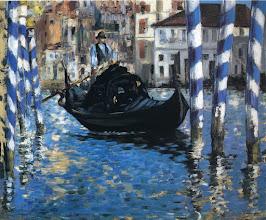 """Photo: Edouard Manet, """"Il Canal Grande a Venezia - Venezia blu"""""""