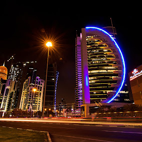 West Bay, Doha by Marlon Diwata - City,  Street & Park  Vistas