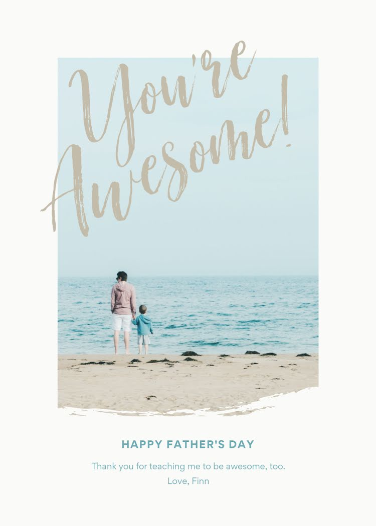 You're Awesome! - Father's Day Card Template