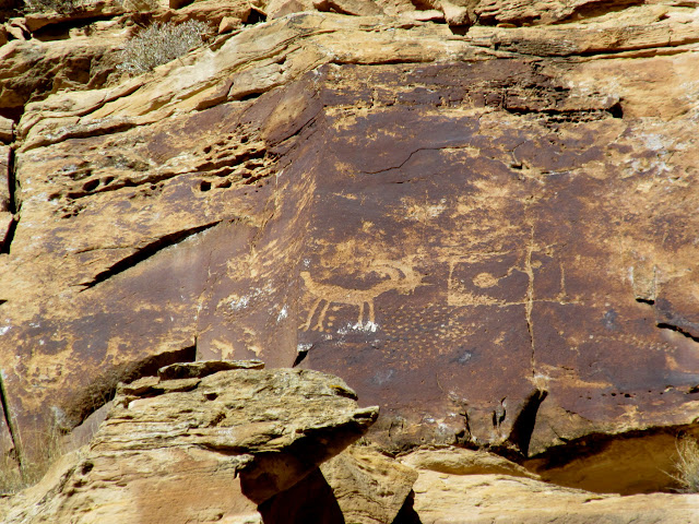 High, inaccessible petroglyphs