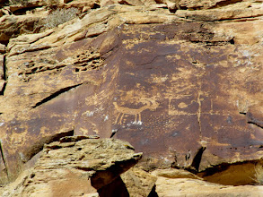 Photo: High, inaccessible petroglyphs