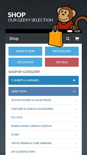 Screenshot 1 for ThinkGeek's Android app'