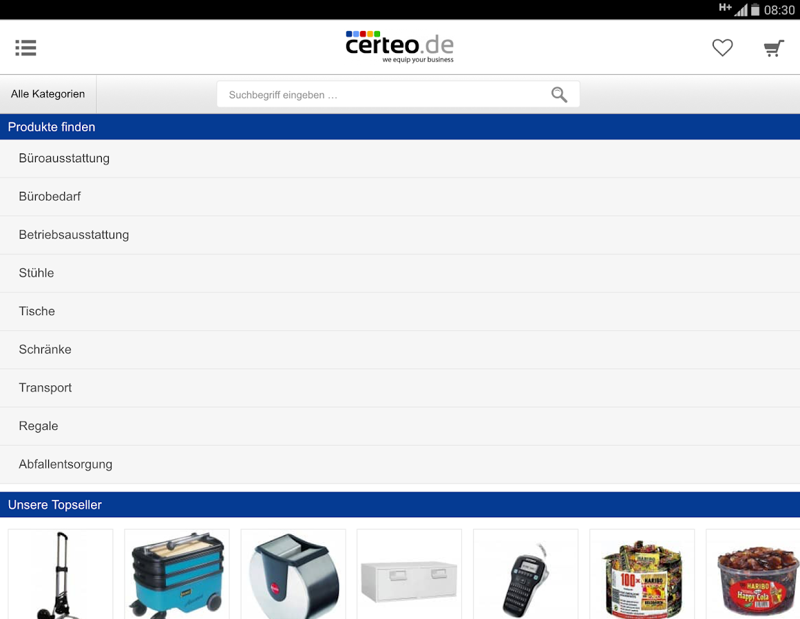 Certeo Business Equipment GmbH- screenshot