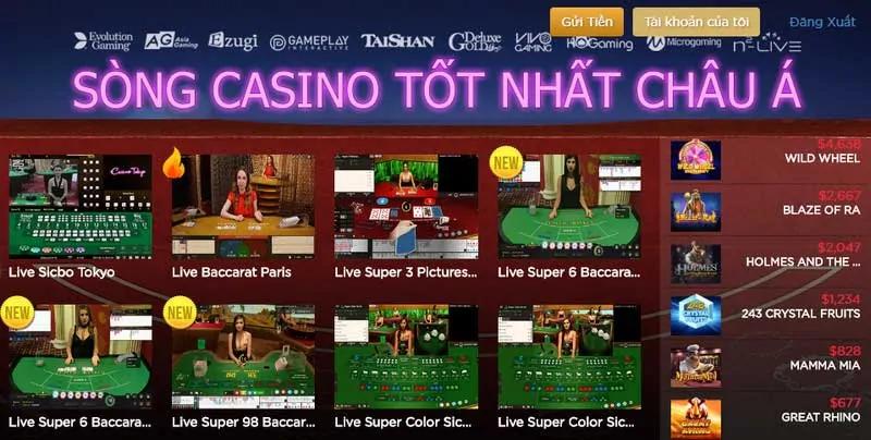Link vào Live Casino House