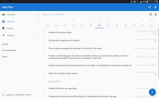 Screenshot of Chaos Control - GTD To-Do List