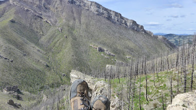 Photo: Looking at Sacajawea Peak and Meriwether Canyon