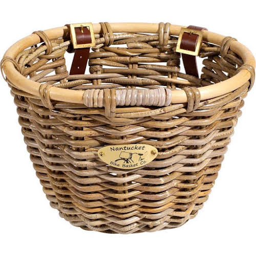 Nantucket Bike Basket Company Tuckernuck Front Basket, Oval Shape Gray