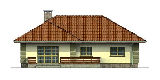 Dom przy Orzechowej - Elewacja tylna