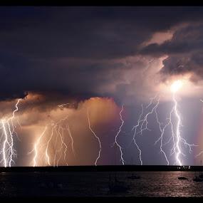 Power 1 by Gareth Carter - Landscapes Weather ( untamed odyssey, clouds, lightning., weather, light, gareth carter )