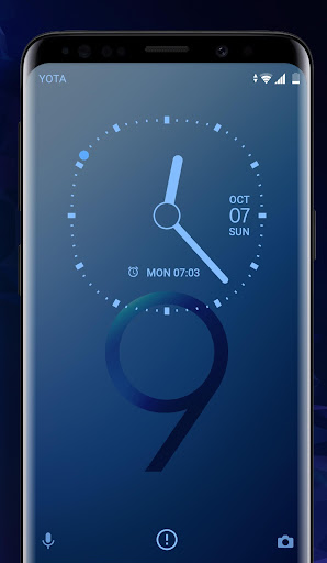 Download Galaxy S9 blue | Xperiau2122 Theme MOD APK 3